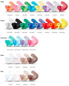 hearing colors earmolds for hearing aids