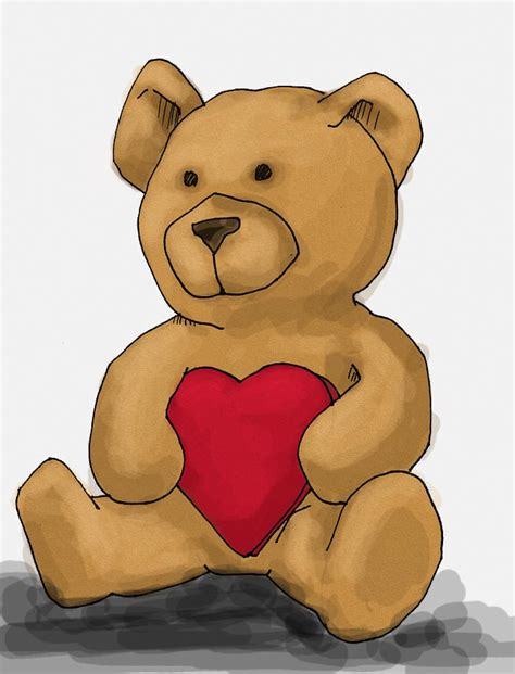 valentines teddy drawing how to draw a s teddy ehow uk