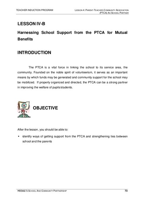 Financial Support Letter By Parents Module 5 School And Community Partnership