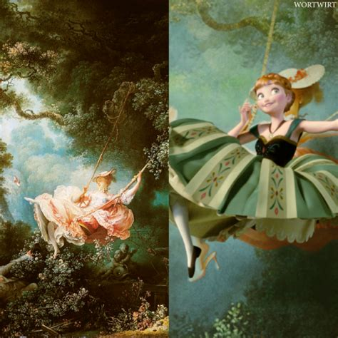 fragonard the swing 1767 disney edit disney paintings disney edit
