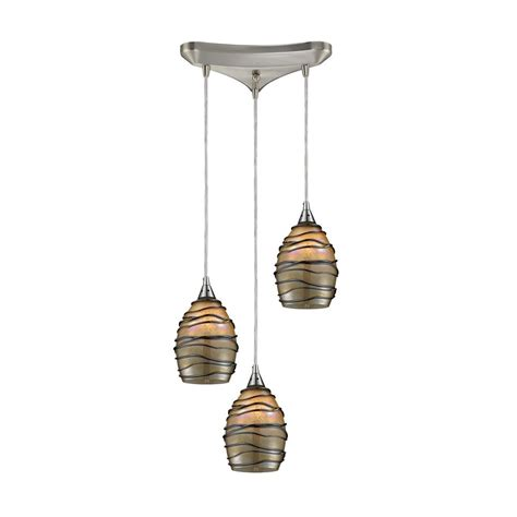 Pendant Lighting Colored Glass Modern Multi Light Pendant Light With Multi Colored Glass 31142 3 Destination Lighting