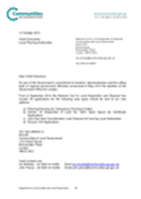 Transfer Unit Letter Planning Guidance Letters To Chief Planning Officers