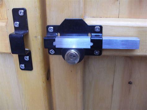 Gate Lock Long Throw For Garden Gate Shed Garage Or Door Pull Handle Kit Ebay