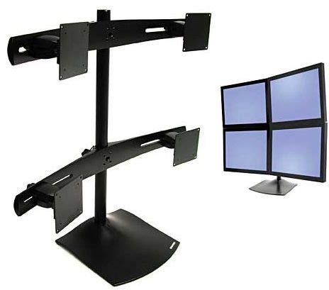 ergotron ds100 monitor desk stand ergotron ds100 4 monitor desktop stand for 10 20 inch