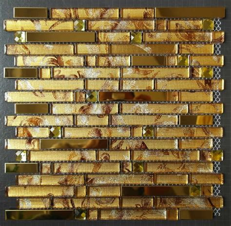 gold backsplash tile glass mosaic tiles ssmt244 gold stainless steel tile