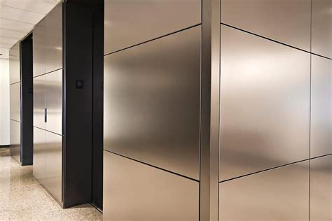 stainless steel wall panels wall mounted decorative panel stainless steel levele forms surfaces elevator lobby