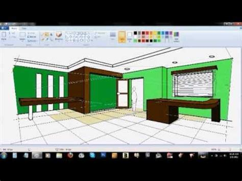 What Of Paint Do You Use On Interior Doors by 2 Point Interior Perspective Using Ms Paint In 1 Hour