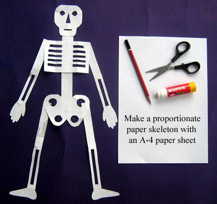 How To Make A Paper Skeleton - toys from trash