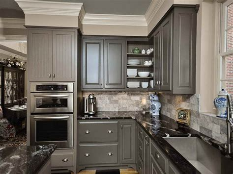 grey painted kitchen cabinets steps in choosing the right gray kitchen cabinets my