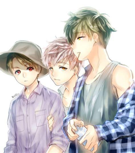 V Anime Bts by Bts Anime V Jimin Jungkook Kpop Fanart