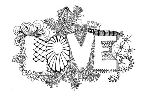 zentangle love pattern zentangle gallery peaceful patterns zentangle in las
