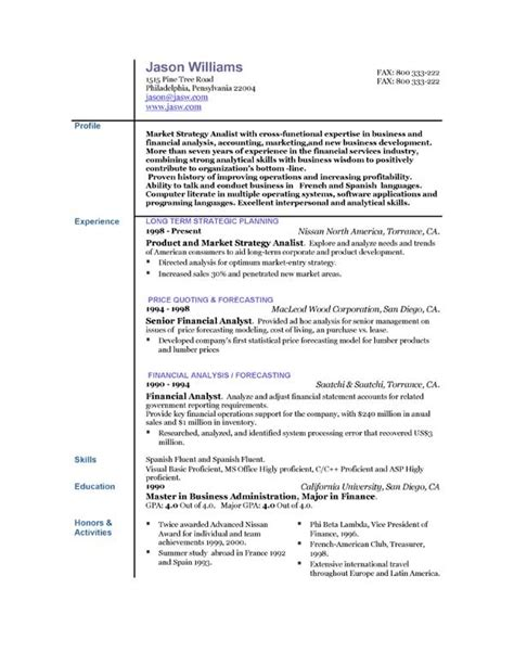 Sle About Me In Resume Resume Templates Easyjob 28 Images Free Nursing Resumes Best Resume Gallery Resume Formats