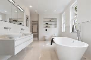 modern white bathrooms contemporary white freestanding bath design ideas photos