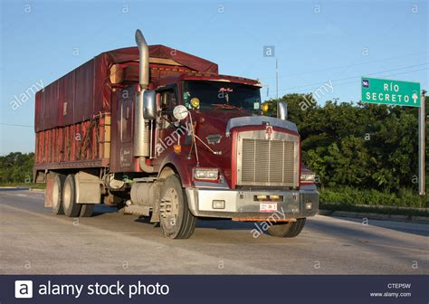 kenwood truck kenwood truck on the highway in mexico stock photo