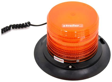 Custer Amber Strobe Warning Light Sae Class Iii Xenon Suction Cups For Lights