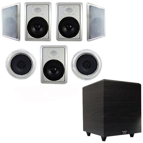 In Ceiling Powered Subwoofer by Acoustic Audio Ht 87 Wall Ceiling 8 Quot 7 1 Speakers 6 5