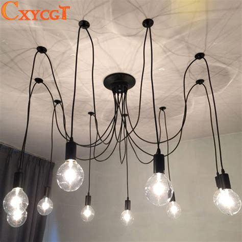 Diy Bulb Chandelier Modern Nordic Retro Edison Chandelier Lighting Vintage Loft Antique Adjustable Diy E27 Spider