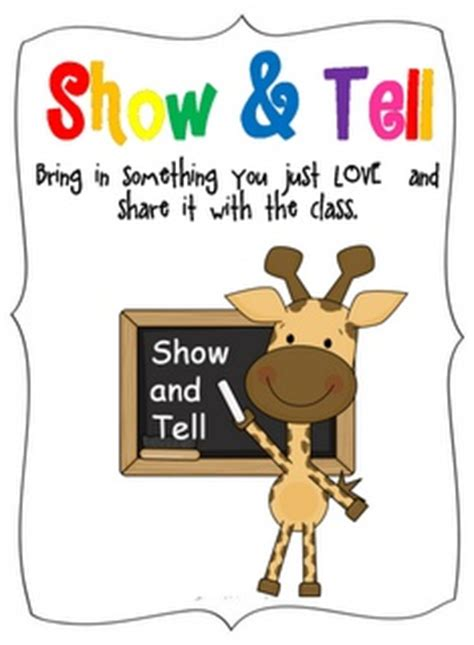 ideas for kindergarten show and tell show and tell children s director ideas pinterest