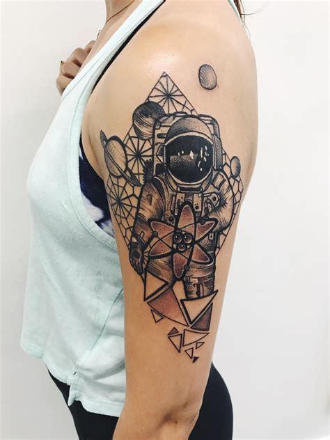 geometric tattoo philadelphia x post from r tattoos my geometric astronaut tattoo by