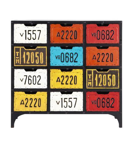 Maison Du Monde Cabinet by Cabinet De Rangement Indus En Bois Multicolore L 93 Cm