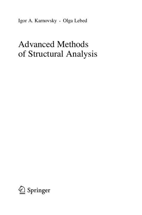 computer methods in structural analysis books advance method of structural analysis book