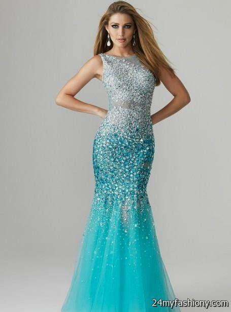 light blue mermaid prom dress 2016 2017 b2b fashion
