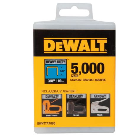 dewalt 3 8 in heavy duty staples 5000 pack shop your