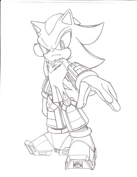 shadow the hedgehog different coloring shadow the