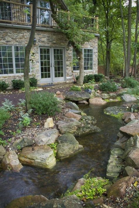 backyard creek ideas 11 natural stream to guide rain water ideas start a back