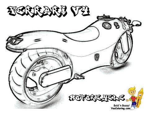 free ferrari coloring pages book for kids boys com cool coloring motorcycles motorcycles free motorcycle