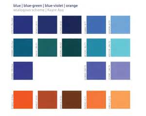 color combination for blue analogous color schemes in color