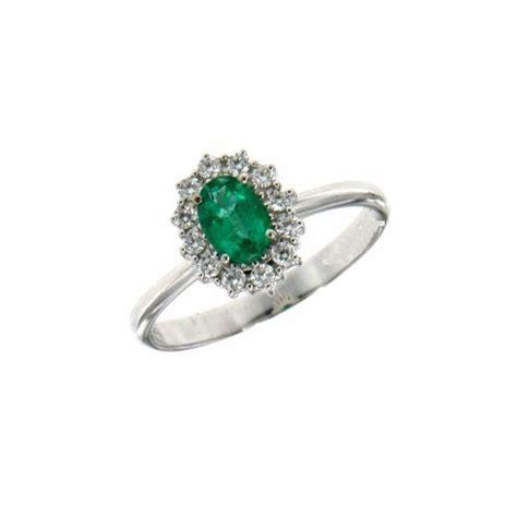 anello fiore diamanti anello fiore in oro bianco con smeraldo e diamanti