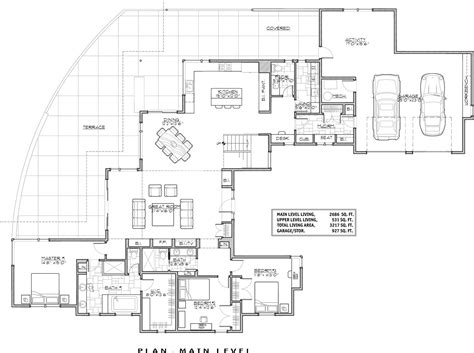 home floorplans contemporary house plan with 3 bedrooms and 3 5 baths plan 9044