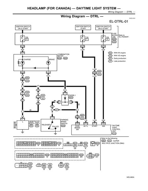 2001 nissan frontier headlight wiring diagram nissan