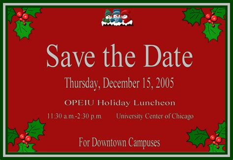 save the date holiday party free template 8 best images of luncheon flyer template save the date flyer template