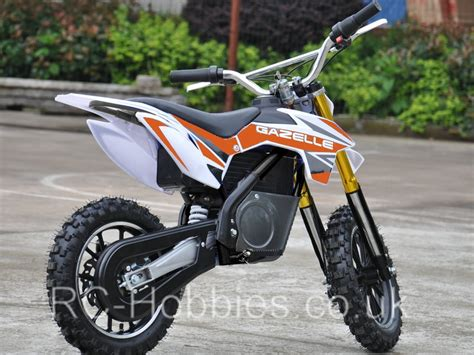 electric motocross bike uk mini moto electric dirt bike gazelle 500w 36v li ion or