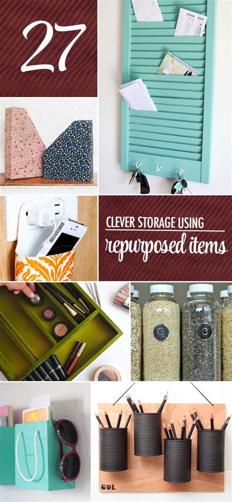 clever storage ideas clever storage using repurposed items the chic site