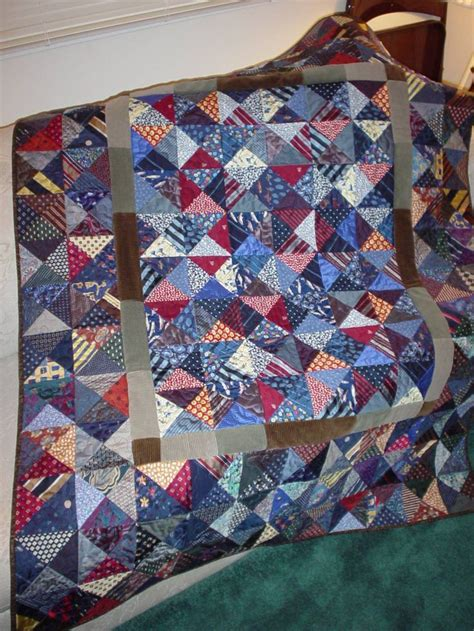 Quilts Made From Neckties by 21 Best Quilting S Necktie Memory Quilts Images On