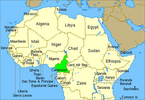 cameroon in world map cameroon world map location