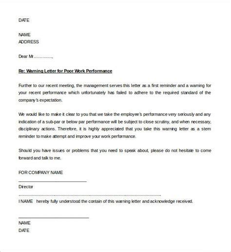 hr warning letters sample format