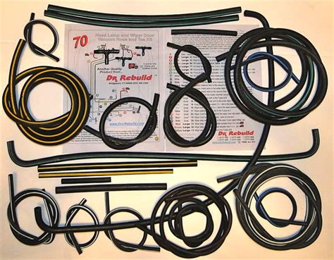 1970 corvette headlight wiper door vacuum hose kit c3 headl vaccum ebay 1970 corvette molded headl wiper door vacuum hose kit