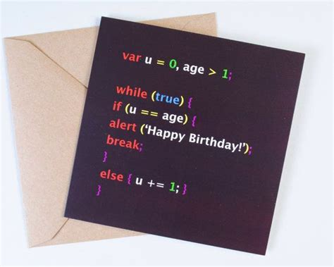 Birthday Card For Computer Programmer