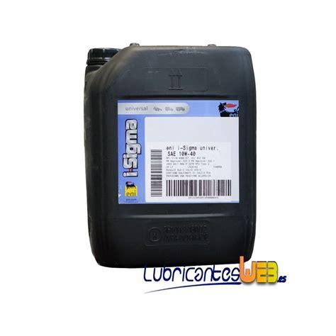 Agip Diesel Sigma Plus 40 5l aceite camion eni agip i sigma universal e7 10w40 20ltrs