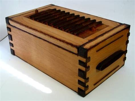 Handmade Cigar Humidor - handmade vintage cigar mold tabletop humidor by zanoni