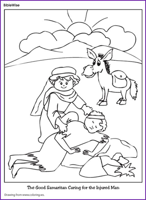 coloring page for good samaritan coloring good samaritan kids korner biblewise