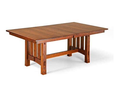 mission style dining room table amish trestle dining table mission style