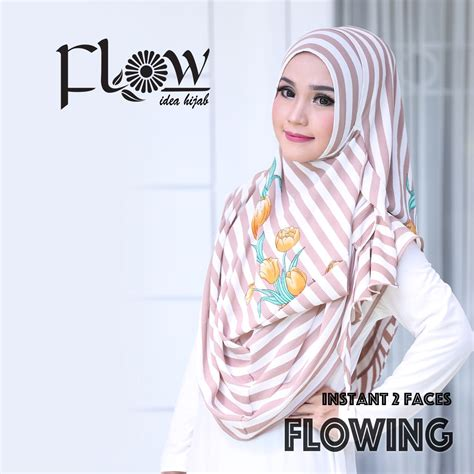 Flow Stripe 2 By Flow jilbab instant 2 faces flowing stripe 2 flow