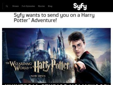 Wizarding World Of Harry Potter Sweepstakes - the syfy wizarding world of harry potter sweepstakes