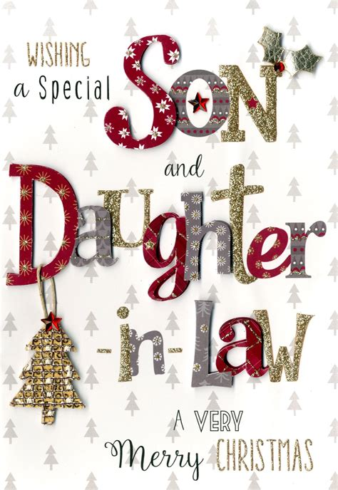 son daughter  law embellished christmas card cards love kates