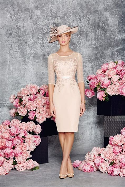 light pink mother of the bride dresses round collar light pink mother of the bride dress cute